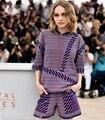 2016 Primavera Outono Novas Mulheres Ternos De Malha Padrão Geométrico Mulheres Camisola Com Capuz Top e Shorts Conjuntos Saia Knited LY592
