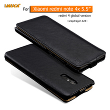 "iMUCA Phone Cases Xiaomi redmi note 4x case cover luxury leather capa back cover for xiaomi redmi note 4x 5.5"" vertical capa bag"