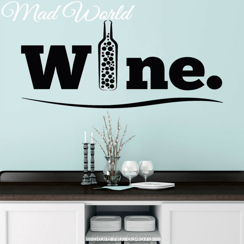 Bath Drink Wine Wall Art Sticker Bathroom Quote Decal Mural Transfer Sticker