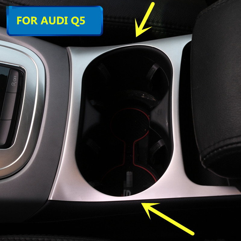For Audi Q5 Interior Water Cup Holder Decorative Cover