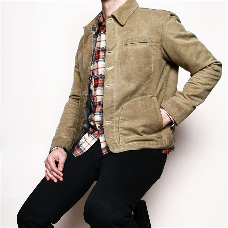 USN Wet Weather Parka Vintage Deck Jacket Pullover Lace Up WW2 Uniform Mens Navy Military Hooded
