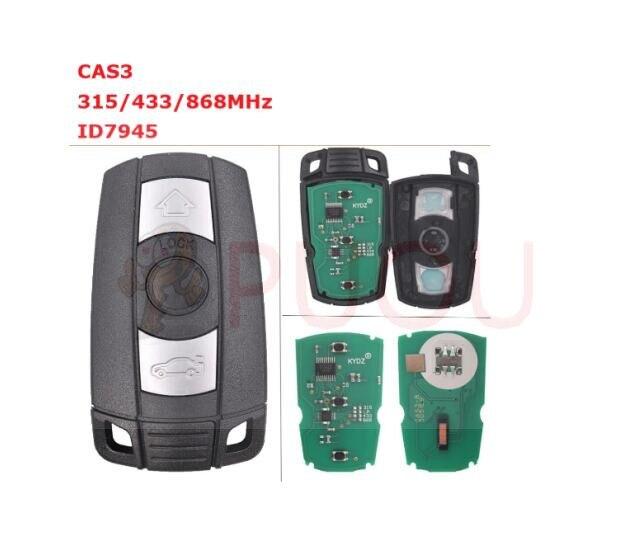 10PCS LOT 3 Button smart Remote Key 315MHz 433MHz 868Mhz for BMW CAS3 1 3 5