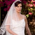 Fast Free Shipping White Ivory color cheap bridal wedding veils Nice Veil In stock Satin Edge Wedding Veil