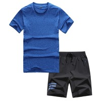 Summer Shorts Sport Wear For Men Fitness Suit Breathable Running Suit For Big Men Outdoor Running Jogging Plus Size M 7XL 130KG