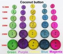12.5mm 30 30mm 5 cores coco roupas botão de costura redonda jóias decodificação botões acessórios encantos botas casaco apto ccb-01