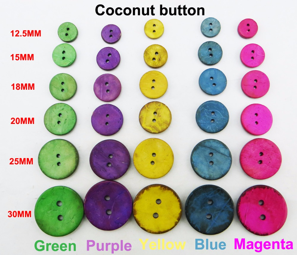 Disciplined 12.5mm~30mm 5color Coconut Clothes Sewing Button Round Jewelry Decotion Buttons Accessory Charms Boots Coat Fit Ccb-01