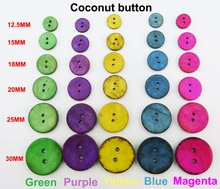 12.5MM~30MM 5Color COCONUT Clothes Sewing Button Round Jewelry Decotion Buttons Accessory Charms Boots Coat Fit ccb-01