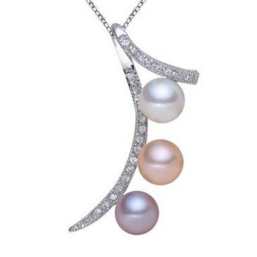 Pea pearl pendants 3 colorful natural pearls cz diamond 925 sterling pea pearl pendants 3 colorful natural pearls cz diamond 925 sterling silver pendant aaaa perfectly round aloadofball Gallery