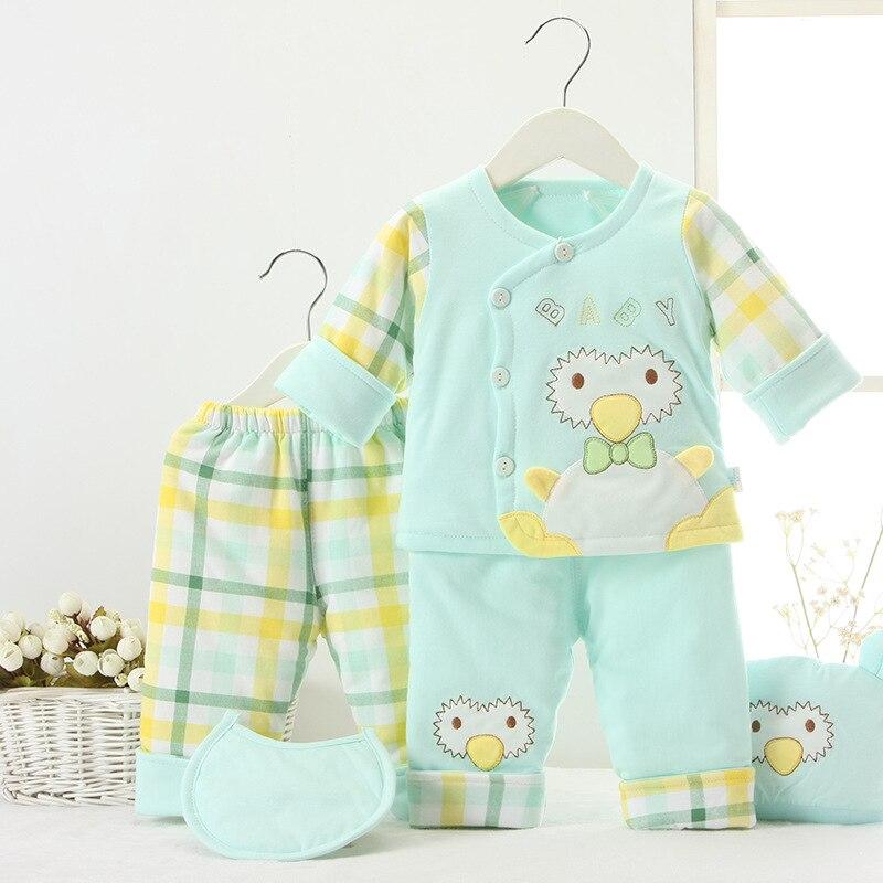 New (5pcs/set) Baby Newborn Cotton Warm Outfit Sets Boys Girls Layette 0-12Months