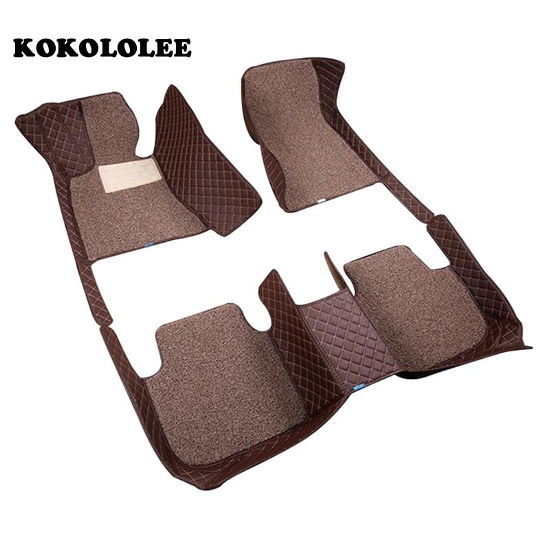 KOKOLOLEE Custom car floor mats for KIA All Models K2 3 4 5 Kia Cerato Sportage