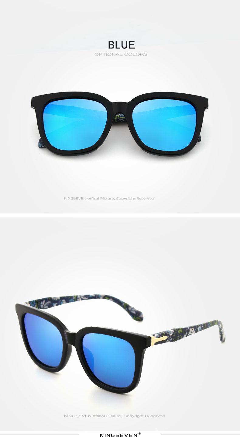 KINGSEVEN Vintage Style Sunglasses Women Brand Designer Shades Polarized Lens Sun Glasses Fashion Sunglasses Oculos De N7810 7