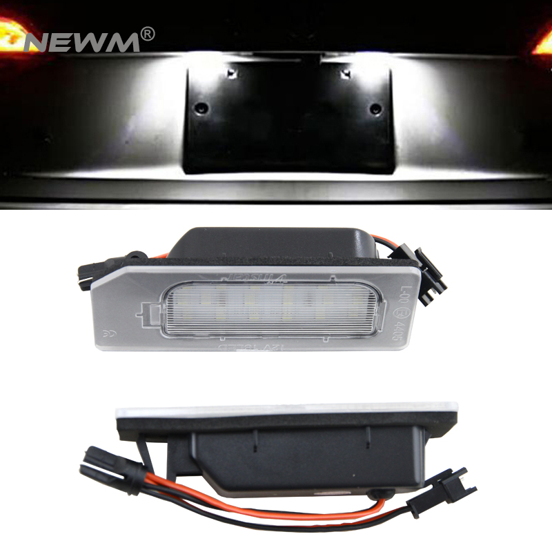 2Pcs LED License Plate Light Canbus Number Plate Lamp 12V Car Styling For Mitsubishi ASX 2pcs 12v 31mm 36mm 39mm 41mm canbus led auto festoon light error free interior doom lamp car styling for volvo bmw audi benz