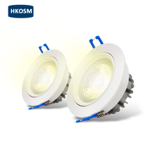 Dimmable COB LED spot light 50degree Rotatable Recessed LED Downlight light  9W 15w 20w Cheap Wholesale  Led Ceiling lamp