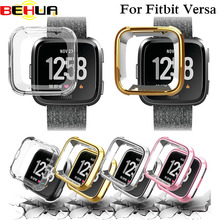 Ultra-thin Soft Plating TPU Protection Silicone Case Cover For Fitbit Versa wearable devices smartwatch watch Frame Accessories