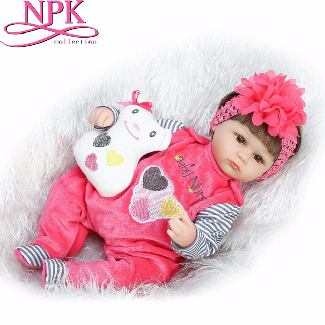 NPKCOLLECTION 16inch Lifelike Reborn Dolls Babies Silicone Reborn Baby Boy Dolls Baby Real Alive Toys for Girls