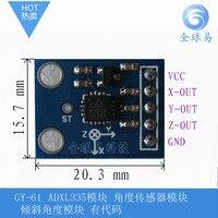 Envío gratis GY-61 ADXL335 módulo Ángulo módulo sensor de ángulo de Inclinación del módulo