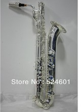 the Professional Baritone Saxophone Silver Plating Musical Instrument Eb Falling Tune E (F) Saxofone