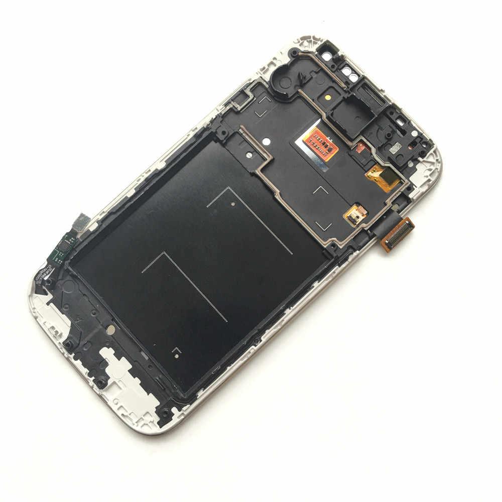 لسامسونج غالاكسي S4 شاشة الكريستال السائل مجموعة المحولات الرقمية لشاشة تعمل بلمس ل S4 GT-i9505 i9500 i9505 i9506 i9515 i337 Lcd مع الإطار