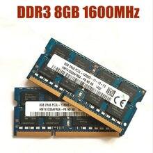 Kcmsywjr 8gb PC3L-12800S ddr3 1600 mhz 8gb memória do portátil ddr3l 8g pc3l 12800 s 1600 mhz notebook módulo sodimm ram