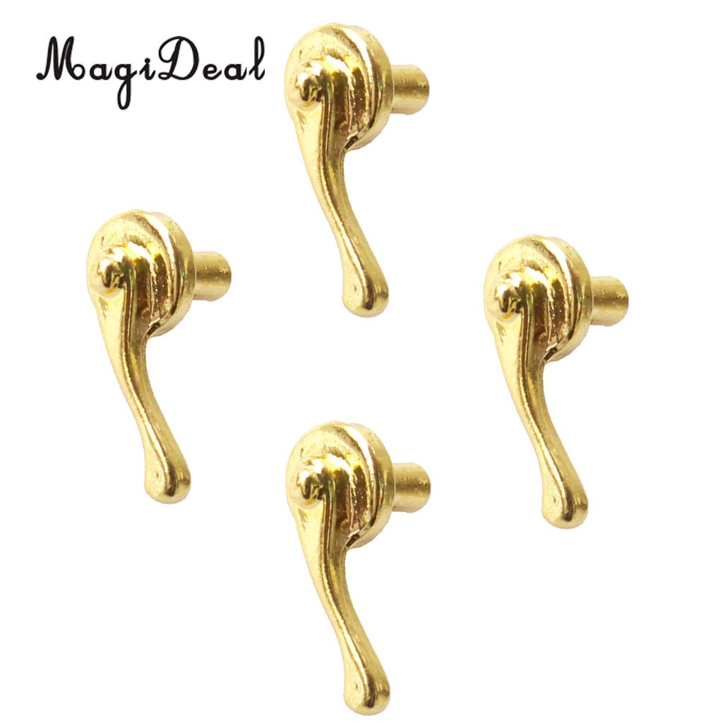 MagiDeal 4Pcs/Pack Miniature Vintage Furniture Dolls House Alloy Door Pull Handles for 1/12 Dollhouse Accessories Children Toy ...
