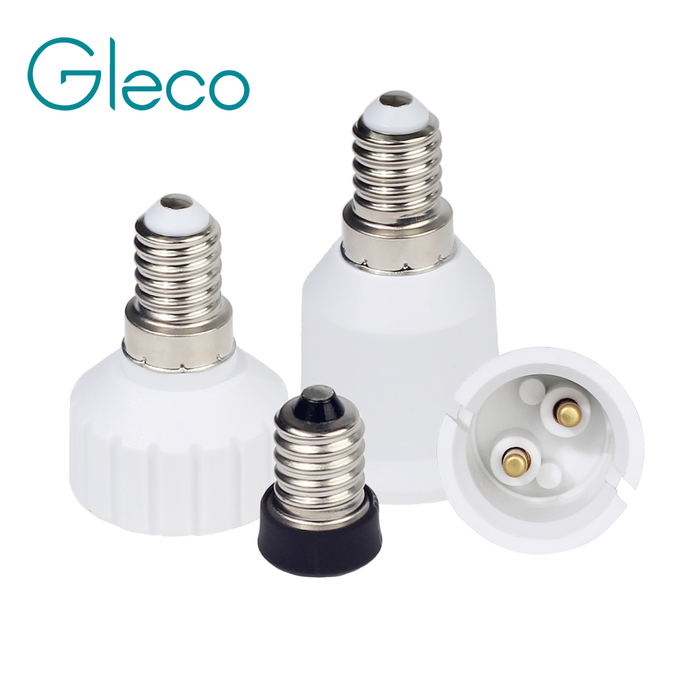 1PCS E14 to B22 <font><b>E12</b></font> GU10 Lamp Base E14 Lamp Holder Screw Light Bulb Converter <font><b>Socket</b></font> Adapter For LED Corn Bulb Spotlight image