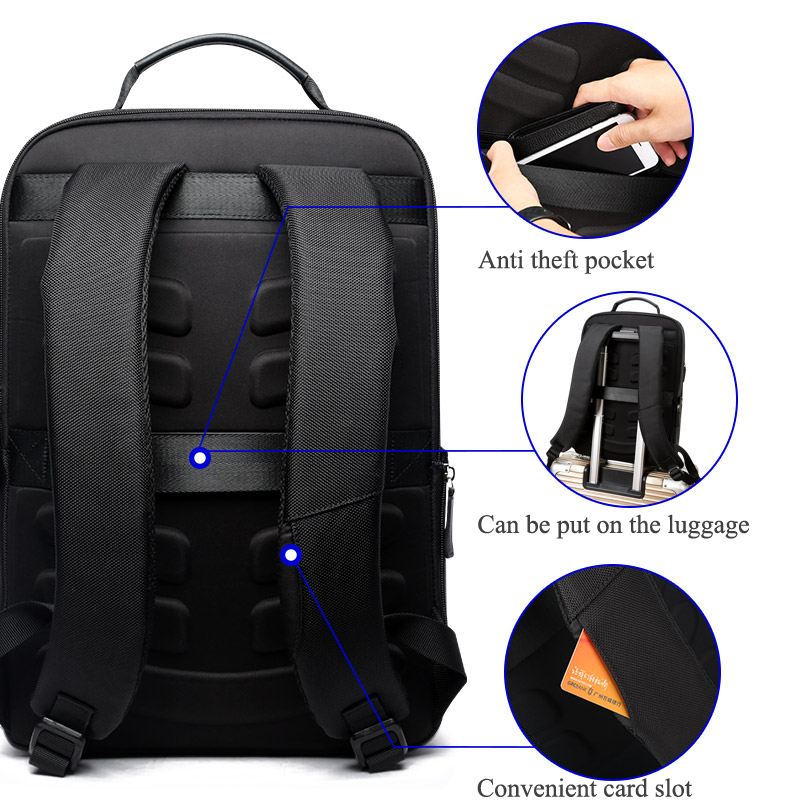 Image 4 - BOPAI Large Capacity Men Travel Bags Detachable 15.6inch Laptop  Backpack with Main Bag for Men Business Travel Leather back  packBackpacks