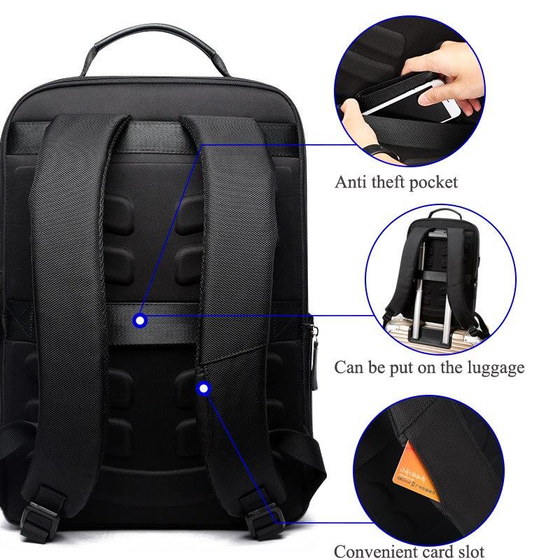 BOPAI grande capacité hommes voyage sacs détachable 15.6 pouces sac à dos pour ordinateur portable avec sac à Main pour hommes d'affaires voyage en cuir sac à dos - 4