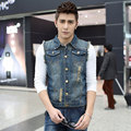 New Brand Mens Vest jacket  JeansVests Men Slim Sleeveless Jacket Plus Size 6XL Patchwork Waistcoat men vest