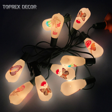 Toprex E17 patio lights - length 3m outdoor string lights christmas decoration light party fairy lights