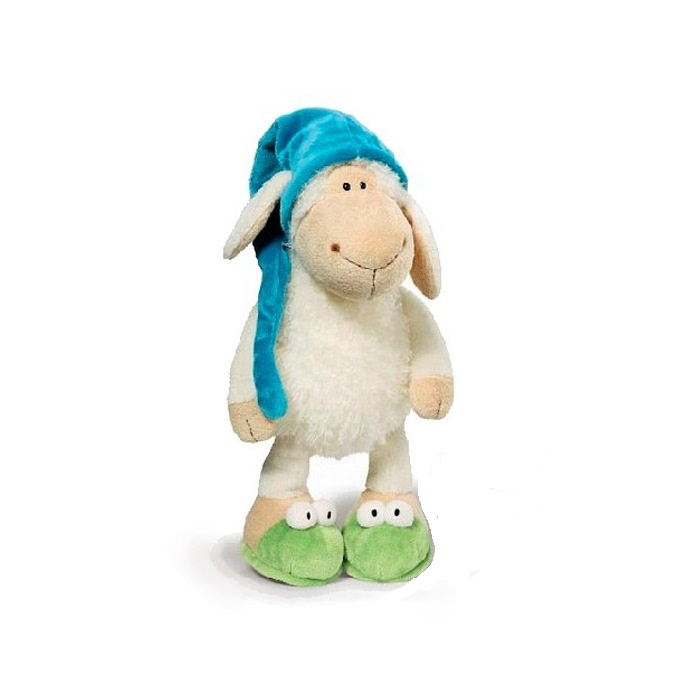 все цены на  original Hot sale very cute sleepy sheep creative plush toy stuffed toy doll sheep 25cm children baby toy christmas gift  в интернете