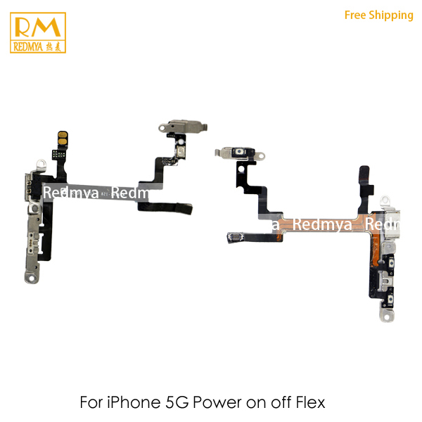 Original For iPhone 5G 5S Power on off Button Swtich Volume Side Key Sound Flex Cable Ribbon Replacement Mobile Phone Parts