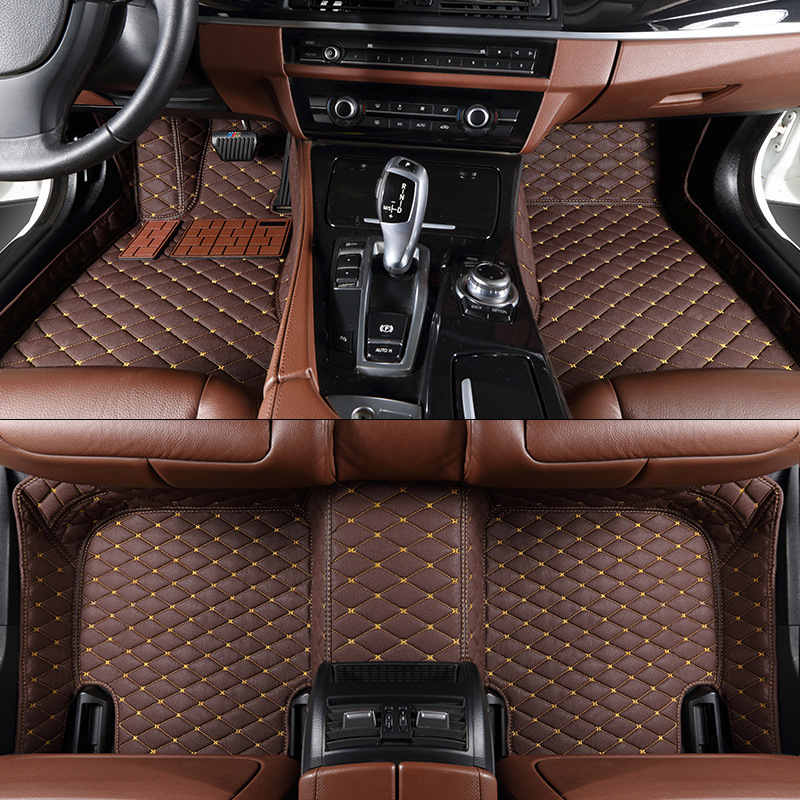 TENGRUI Custom Car Floor Mats for Audi A1 A3 A4 A4l A5 A6 A6L A7 A8 Q3 Q5 Q7 S and RS Auto Floor Mats Accesserios Leather Mat