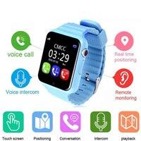 Heißer kind gps bluetooth smart watch v7k 1,54 'wristwatch sos-ruf lage Device Tracker für Kid Safe Anti Verloren Monitor Baby Geschenk