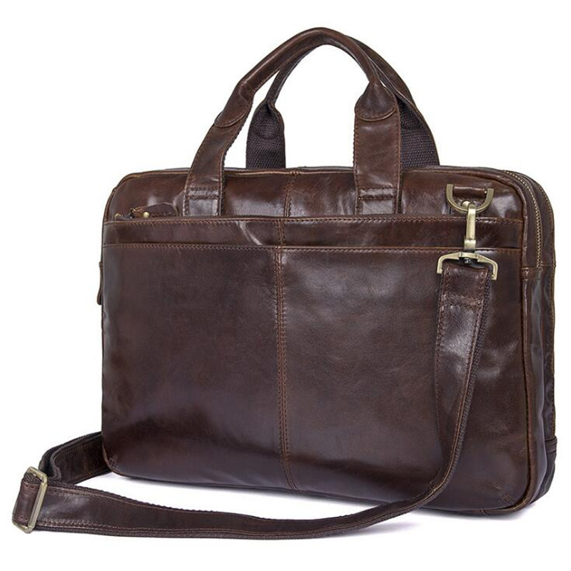 Genuine Leather Briefcases Bag Men Messenger Bags Fashion Shoulder Bags Travel Handbags Men Tote Laptop Briefcases Men Bag lacus jerry genuine cowhide leather men bag crossbody bags men s travel shoulder messenger bag tote laptop briefcases handbags