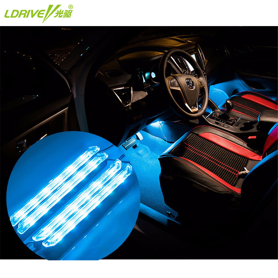 multicolor high brightness 4 led wick car led auto atmosphere lamp bright light source super. Black Bedroom Furniture Sets. Home Design Ideas