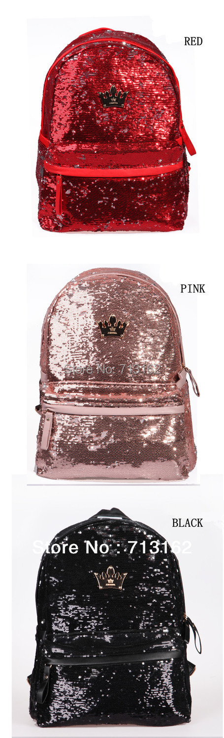 dabc10fb9e 2PM Nichkhun Girls  Generation J.estina Embroider Bling Bling Shiny Backpack  Sequin School Bag for Girl   Women Free Shipping-in Backpacks from Luggage  ...