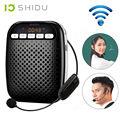 Frete grátis! shidu sd-s718 mini 10 w cintura amplificador de voz impulsionador com 2.4g sem fio fone de ouvido microfone