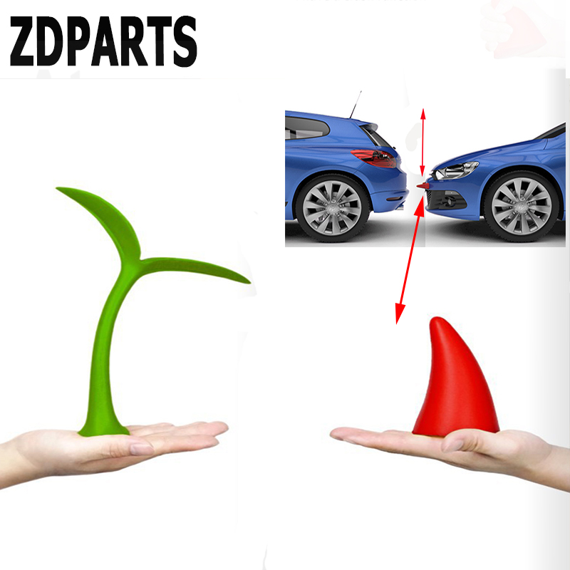 ZDPARTS 3D 1PC For Ford Focus 2 3 Fiesta Mondeo MK Chevrolet Cruze Aveo Kia Rio Ceed Audi A3 A4 Car Styling Crash Funny Stickers