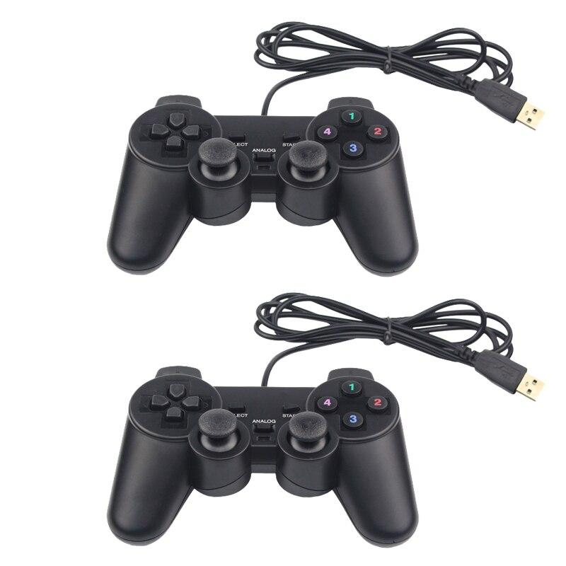 Usb gamepad fio joypad controlador de jogo retro joystick para raspberry pi 4 modelo b retroflag nespi pc megapi superpi