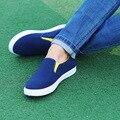 2016 осень новая мода мужская обувь досуг обувь удобная обувь zapatos де hombre мужчины повседневная темно-синий обувь