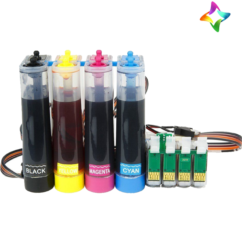 100ML Dye Based ink 1each if Black Cyan Magenta YellowCiss refillable System for EPSON XP-225 XP-325 XP425 XP422 XP312 XP322 web based school management system