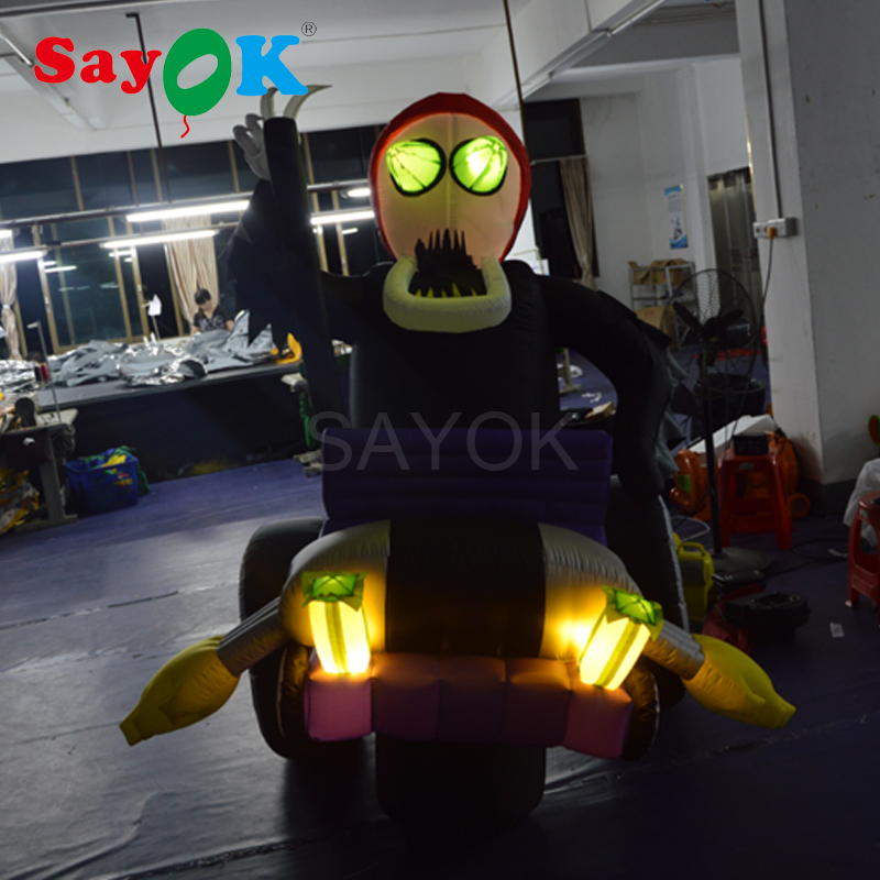 492ft yard lighted halloween skeleton inflatable haunted house for sale giant inflatable decoration - Inflatable Halloween Yard Decorations