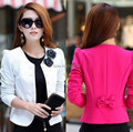 New 2016 Women Blazer Spring Slim Top Elegant Double Breasted Short Design Plus Size Blazer Suit Female Suit & Women Work Wear