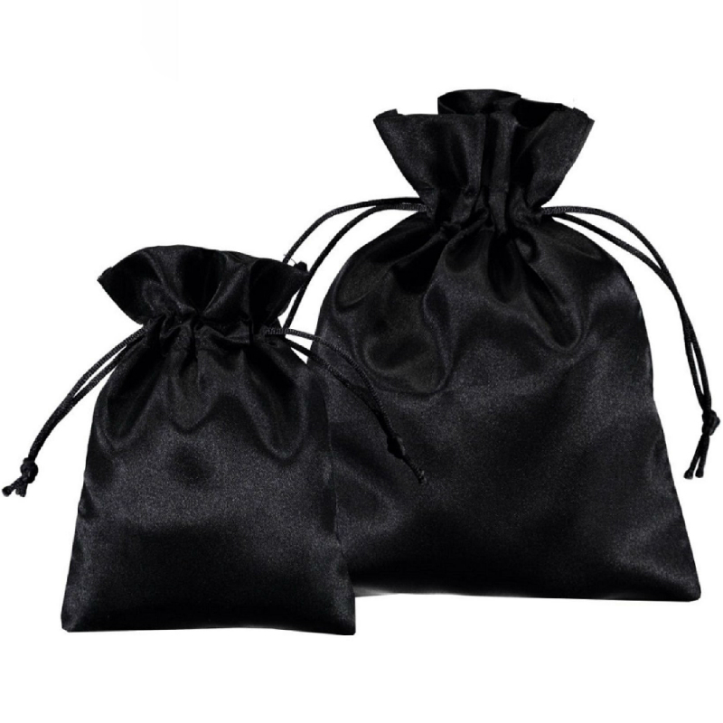 Satin Gift Bag Custom Packaging Jewelry Pouch Cosmetic Party Bead Candy Silk Drawstring Bag Print Logo Cloth Sachet Pocket Sack