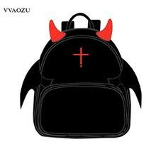 Serafín de Finales Cosplay Mochila Mochila de Dibujos Animados Anime Krul Tepes Punky Con Estilo de LA PU Mochilas Schoolbag con Alas Del Diablo