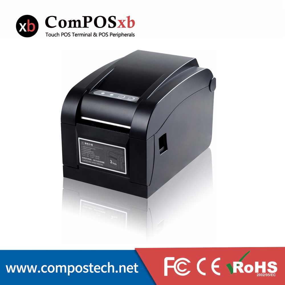 Factory Best Price Thermal 80mm Direct Thermal Label Printer With USB+Serial + Lan Interface
