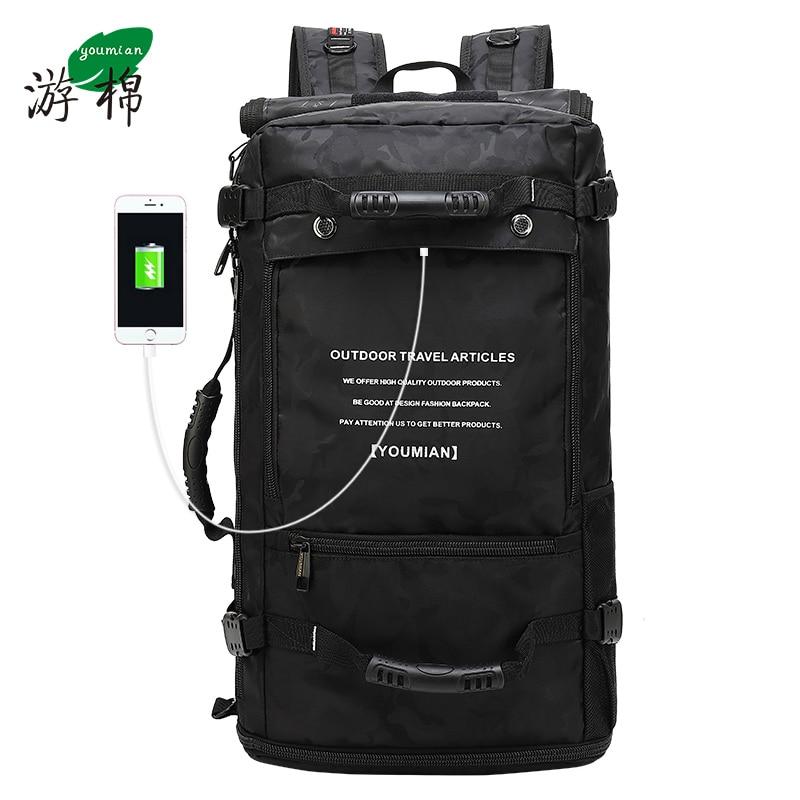 Bagaj ve Çantalar'ten Seyahat Çantaları'de YOUMIAN 2019 Yeni Anti theft su geçirmez 50L erkekler ve kadınlar çok fonksiyonlu 17.3 laptop sırt çantası erkekler açık bagaj çantası mochilas'da  Grup 1