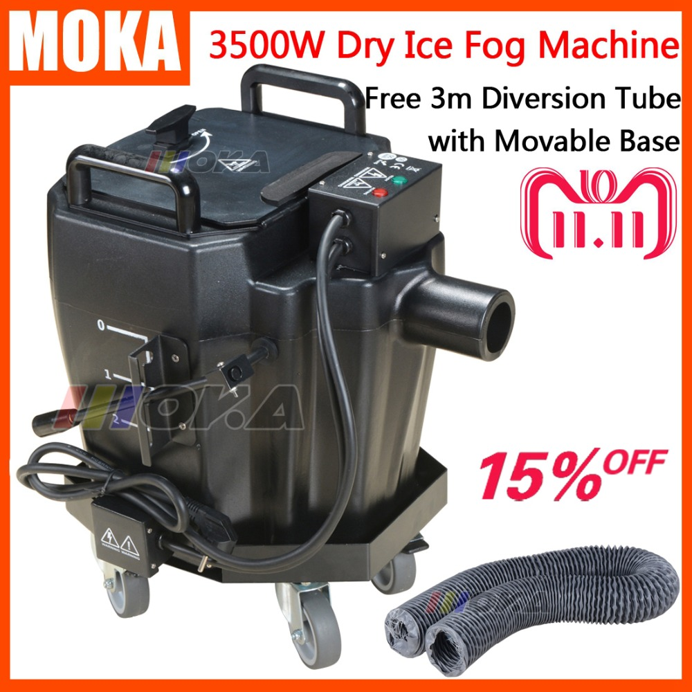 1 Pcs/lot 3500w dry ice fog machine stage effect dry ice machine low ground smoke machine for dj party events with Movable base