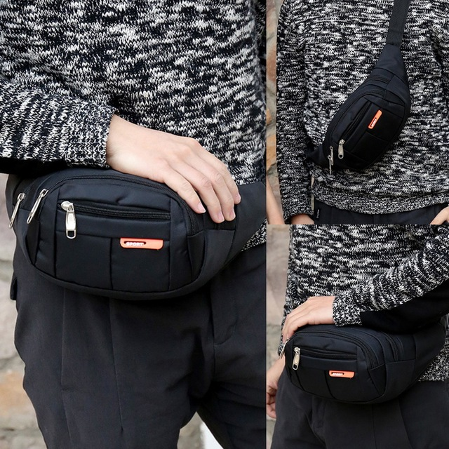 Puimentiua 6 Colors New Unisex Waist  Men Women   Bum Bag Travelling Phone Money Pouch Banana Bags Female Belt Bags