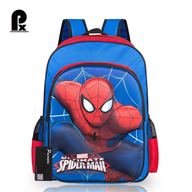 2017 New Style Children Character Schoolbags Orthopedic Cartoon Anima School Bags Super Hero Spider Man Backpack for Boys